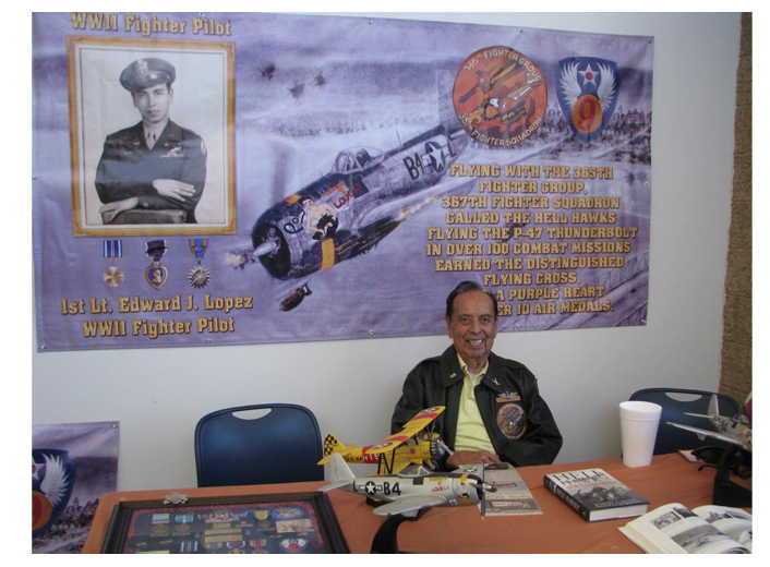 World War II 'Hell Hawk' Edward Lopez is 91 and he still flies!